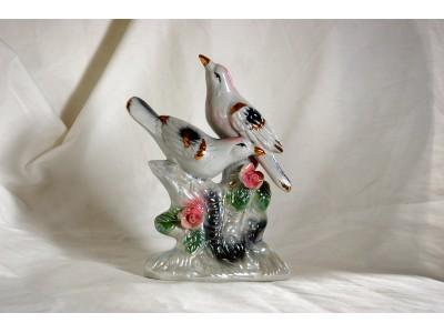 Porselensfigur fugler